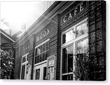 Full Moon Cafe Canvas Print by David Sutton