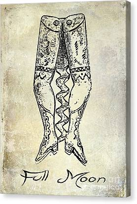 Napa Valley Vineyard Canvas Print - Full Moon Corkscrew by Jon Neidert