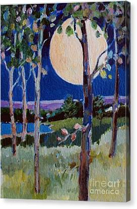 Full Moon Canvas Print by Diane Ursin