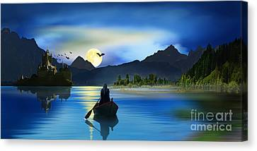 Full Moon In The Carpathians Canvas Print by Monika Juengling