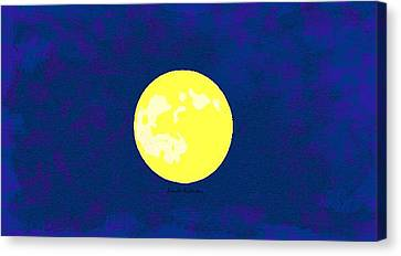 Full Moon Iowa Canvas Print