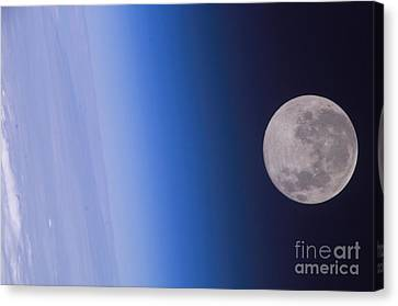 Full Moon, Iss Image Canvas Print