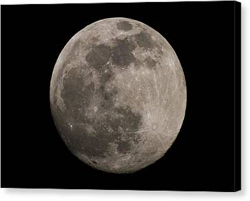 Canvas Print featuring the photograph Full Moon by Nathan Rupert