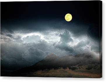 Full Moon Over Borrego Canvas Print