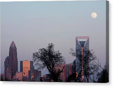 Full Moon Over Charlotte Canvas Print by Carl Miller