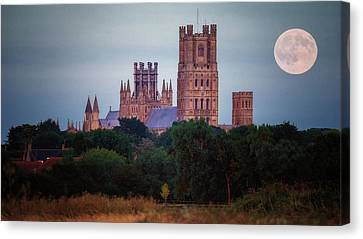Full Moon Over Ely Cathedral Canvas Print