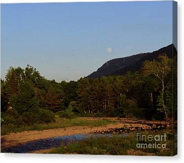 Full Moon Over Hunter West Canvas Print by Donna Cavanaugh