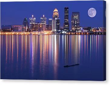 Full Moon Over Louisville Canvas Print
