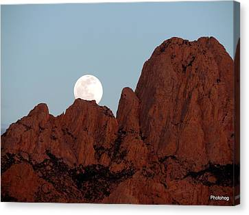 Full Moon Over Mountain  Canvas Print by Adam Jones