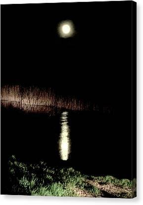 Full Moon Over Piermont Creek Canvas Print