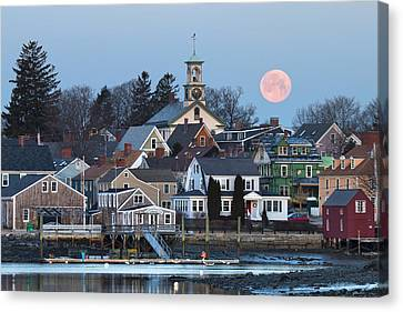 Full Moon Over Portsmouth Canvas Print