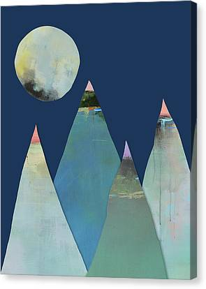 Full Moon Over The Mountains Canvas Print