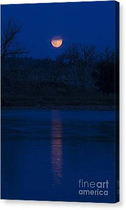 Full Moon Over The Tongue Canvas Print