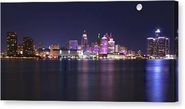 Full Moon Panorama Canvas Print