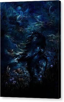 Sea Moon Full Moon Canvas Print - Full Moon by Rachel Christine Nowicki