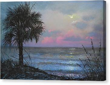 Full Moon Rising Canvas Print by Blue Sky