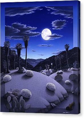 Full Moon Rising Canvas Print by Snake Jagger