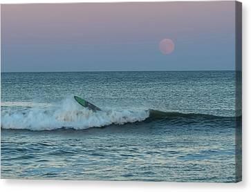 Full Moon Wipe Out Seaside Nj Canvas Print