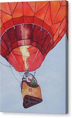 Canvas Print featuring the painting Full Of Hot Air by Judy Mercer