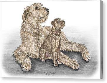Full Of Promise - Irish Wolfhound Dog Print Color Tinted Canvas Print by Kelli Swan