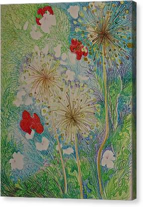 Fanciful Canvas Print - Full Summer Garden by Bonnie See