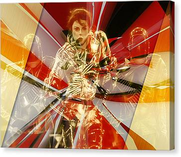 Jackson 5 Canvas Print - Fully Charged Michael Jackson by Marvin Blaine