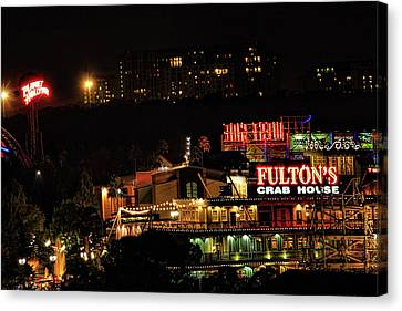 Fultons At Epcot Canvas Print by Pat Cook