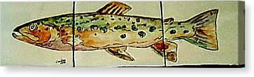 Fun Fish Canvas Print by Sandra Maddox