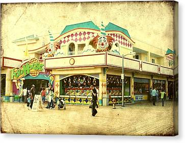 Fun House - Jersey Shore Canvas Print by Angie Tirado