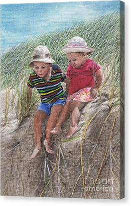 Fun In The Dunes Canvas Print