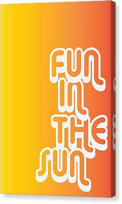 Fun In The Sun Canvas Print by Cortney Herron