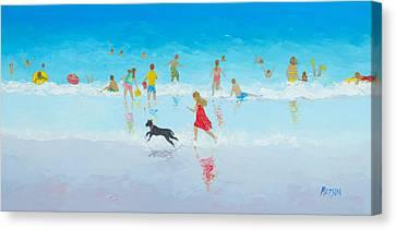 Fun In The Sun Canvas Print by Jan Matson