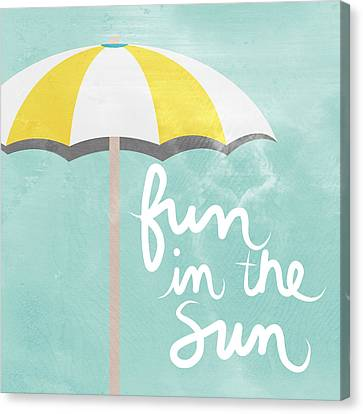 Houses Canvas Print - Fun In The Sun by Linda Woods