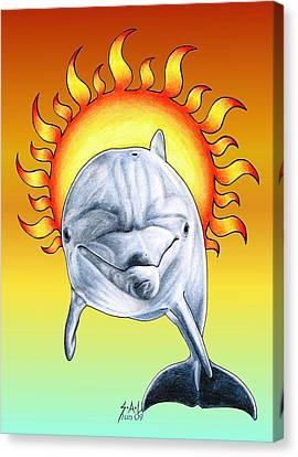 Fun In The Sun Canvas Print