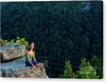 Fun On Top Of The Rock Canvas Print by Dan Friend