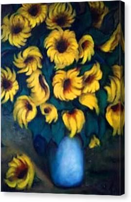 Fun Sun Flowers Canvas Print