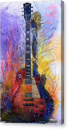 Guitar Canvas Print - Fun With Les by Andrew King