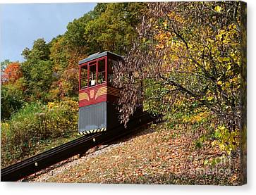 Funicular Descending Canvas Print by Cindy Manero