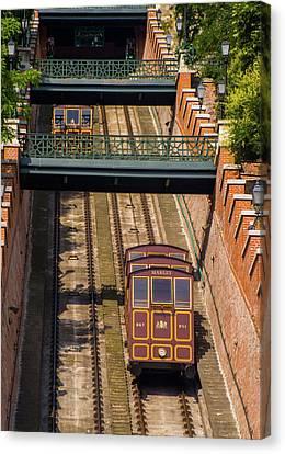 Transportion Canvas Print - Funicular In Budapest by Konrad Krajewski