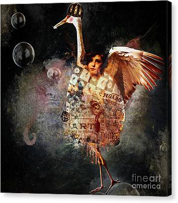 Funky Bird ... Figaro Canvas Print