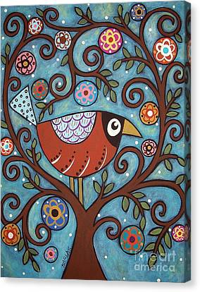 Funky Bird Canvas Print by Karla Gerard
