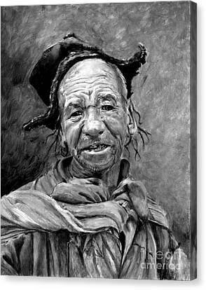 Funky Hat Canvas Print by Enzie Shahmiri