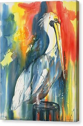 Funky Pelican Canvas Print