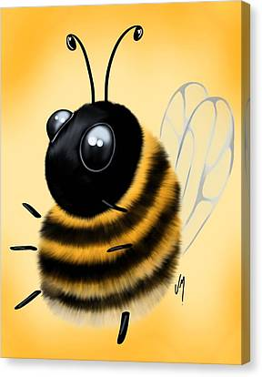 Canvas Print featuring the painting Funny Bee by Veronica Minozzi