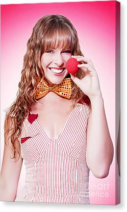 Wavy Canvas Print - Funny Business Woman Clowning Around by Jorgo Photography - Wall Art Gallery