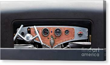 Canvas Print featuring the photograph Funny Car Dash by Chris Dutton