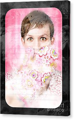 Funny Cooking Woman With Surprised Expression Canvas Print by Jorgo Photography - Wall Art Gallery