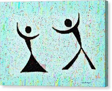 Funny Dance - Pa Canvas Print by Leonardo Digenio
