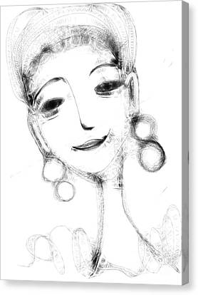 Funny Face Canvas Print by Elaine Lanoue