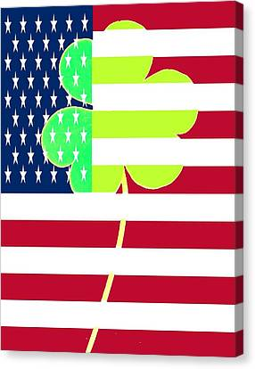 Funny St. Patrick Flag Design Canvas Print by Yss